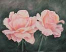 Peach Roses in Woil or Oil 11x14